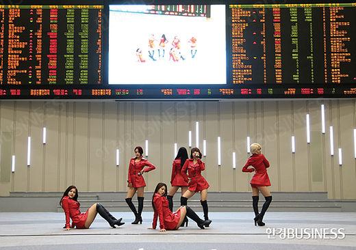 지난해 11월 에프엔씨엔터 상장 당시의 모습.