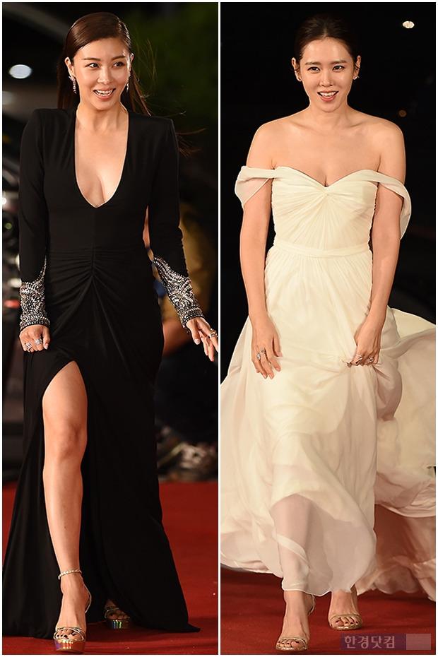 ▶ 하지원-손예진, '두 여배우의 과감한 드레스'