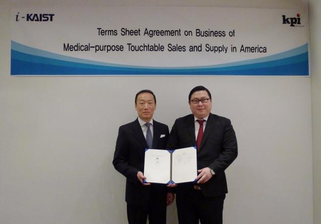 KPI Ultrasound Inc사의 Steven Minn 회장과 김성진 아이카이스트 대표