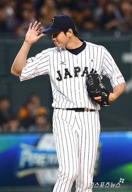 일본 대표팀의 오타니 쇼헤이. 사진=엑스포츠 제공