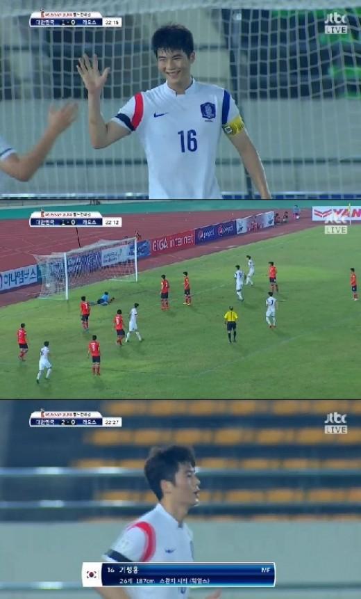 한국 라오스 기성용 한국 라오스 기성용/사진=jtbc '한국 라오스' 경기 중계 캡쳐