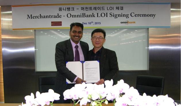 라마 머천트레이드 대표(왼쪽)와 김경선 옴니텔 대표(오른쪽)