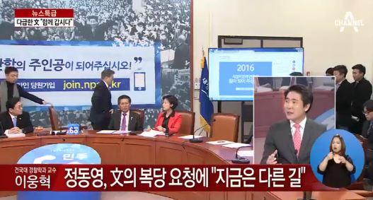 사진=방송화면/정동영 문재인