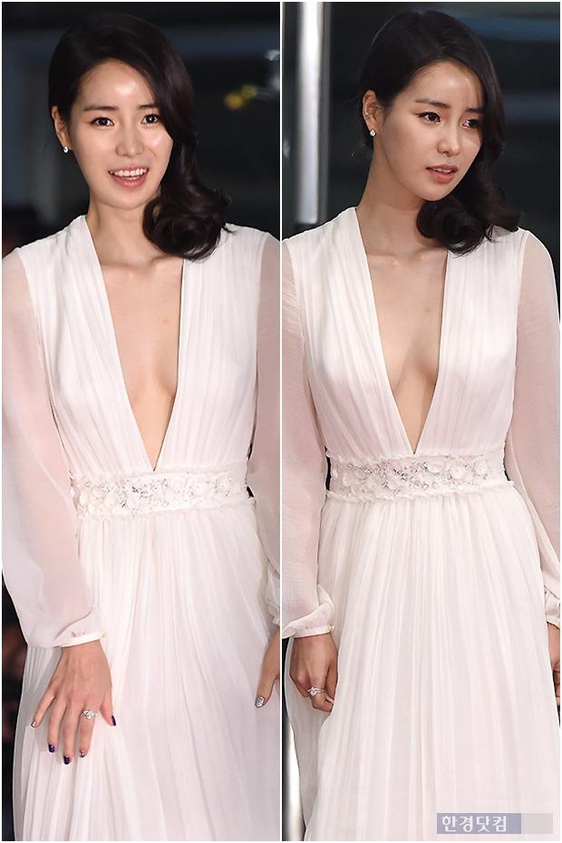 ▶ 임지연, '가슴 라인 드러낸 과감한 절개 드레스'