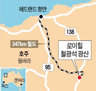 삼성물산, 호주 로이힐 광산 철광석 첫 선적 | | 한경닷컴