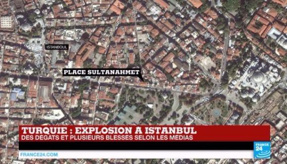 터키 이스탄불 관광지서 폭발 터키 이스탄불 관광지서 폭발/사진=FRANCE 24 유튜브 채널