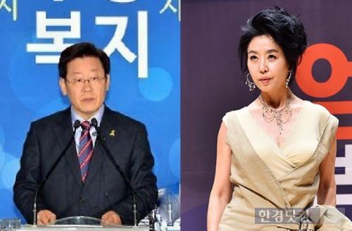 이재명 김부선 / 사진 = 한경DB·성남시 제공