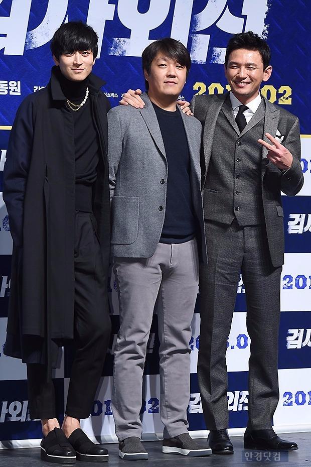 '검사외전' 강동원-이일형 감독-황정민 / 사진 = 변성현 기자