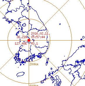 대전 지진 대전 지진 대전 지진 / 사진=웨더아이