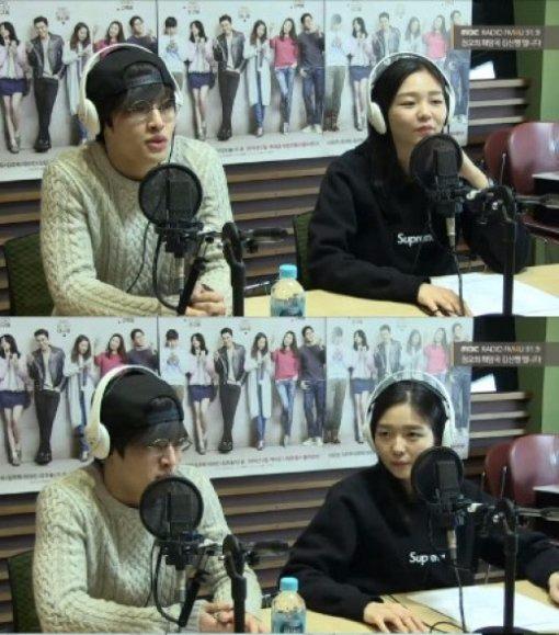 강하늘 이솜/사진=강하늘 이솜, 정오의 희망곡 방송 캡쳐