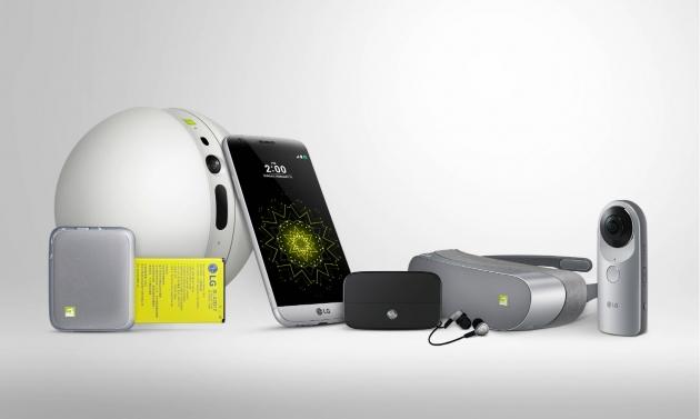 LG전자의 G5와 관련 제품(사진=LG전자)