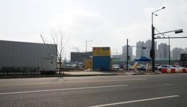 하남 미사지구 역세권 오피스텔 공사 현장