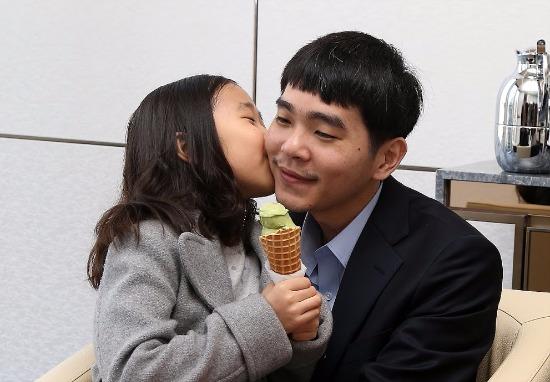 이세돌 9단과 딸 혜림 양. 사진=구글 제공