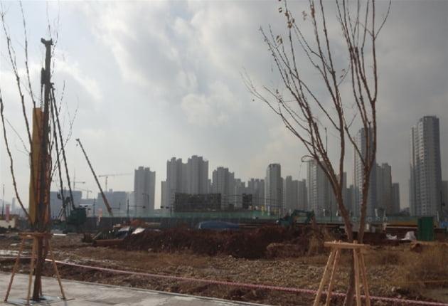 지하철 5호선 미사역(예정) 인근 오피스텔 공사 현장