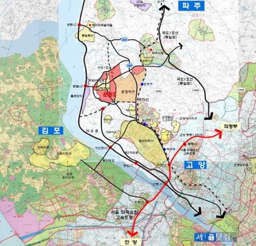 파주운정신도시 광역 위치도 (자료 LH)