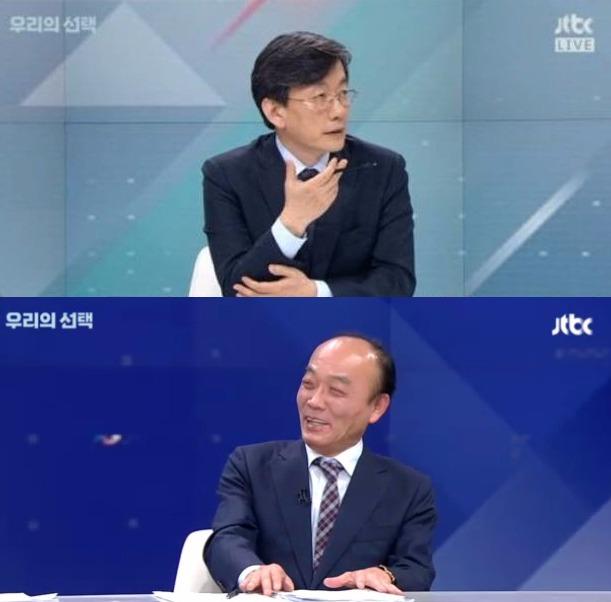 전원책 변호사 손석희 앵커 /JTBC