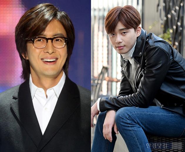 키이스트 소속 배우 배용준, '더우주' 모델 박서준 /한경DB