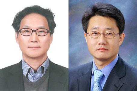 의원총괄사업부장 박인철 상무(왼쪽)와 종합병원총괄사업부장 김용도 상무