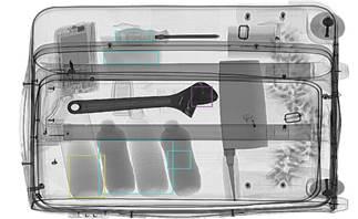 디텍터를 통해 내용물을 열어보지 않고 내부 검사를 진행한 영상이미지