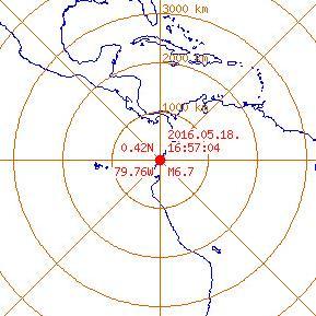 에콰도르 지진 발생