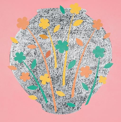 Blooming garden#1607, mixed Media,60x60,2016