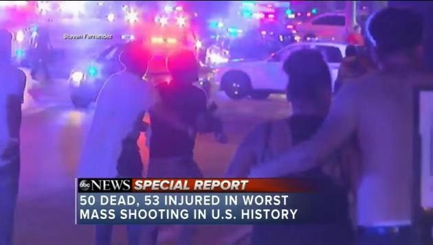 올랜도 총기 난사 최소 50명 사망 /사진=ABC 뉴스 캡쳐