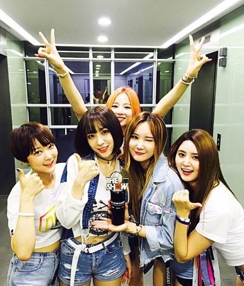 EXID, 음악방송 3관왕