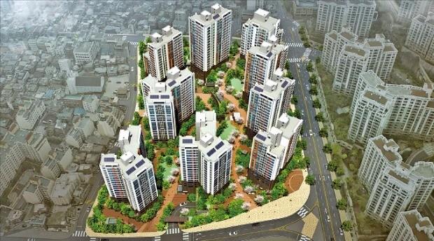 GS건설이 서울 은평구 응암3구역을 재건축해 짓는 '백련산파크자이' 조감도. GS건설 제공