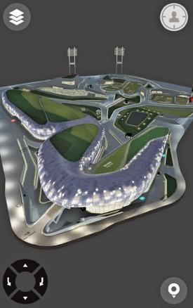 3D로 구현한 DDP 지도 화면