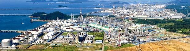 글로벌 경기가 위축돼 있지만 충남 지역 내 각 산업단지에는 외국인 투자가 활발하다. 충남 서산의 석유화학단지 전경. 충청남도 제공