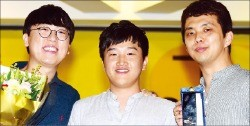 공승규(왼쪽부터), 신금철, 곽일웅 감독.