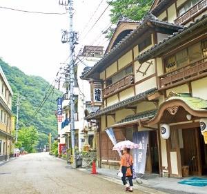 오카야마현 유바라 온천마을