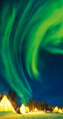 캐나다 옐로나이프의 오로라. 캐나다관광청 제공