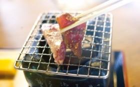 미야자키의 오비마을 향토음식인 가다랑어 구이정식