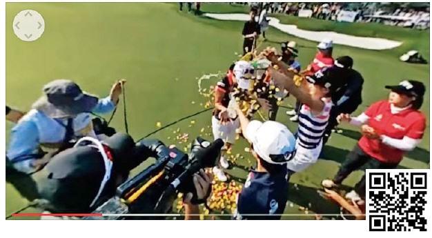 QR코드를 찍으면 360도 카메라로 촬영한 오지현 선수의 우승 순간을 볼 수 있다.