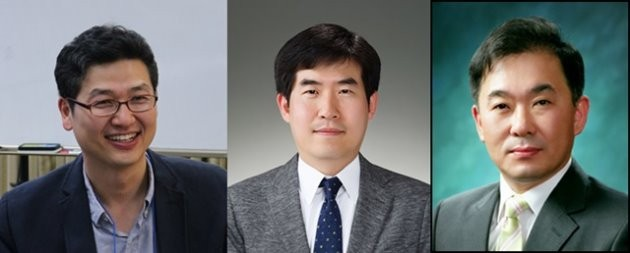 (왼쪽부터) 김재준 포스텍 교수, 이상민 한국전기연구원 박사, 김도향 연세대 교수 / 제공 삼성