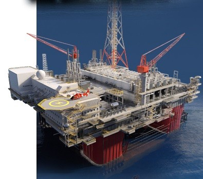 삼성중공업이 일본계 호주 자원개발업체인 인펙스社로부터 수주한 CPF(Central Processing Facility). 이 CPF는 가로·세로 110미터에 상·하부구조를 합친 총 중량이 10만 톤에 달하는 세계 최대 크기로, 기네스북 등재 예정이다. 자료제공=삼성중공업