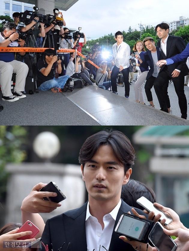 '성폭행 혐의' 이진욱 경찰 출석 /사진=변성현 기자