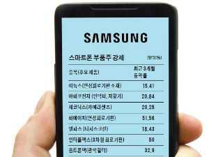 '신제품 효과'…스마트폰 부품주 훨훨