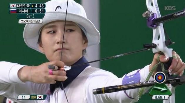 여자 양궁 금메달 기보배 / 사진 = KBS 방송 캡처