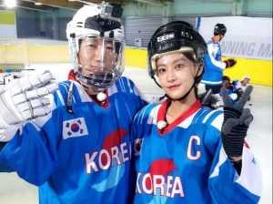 '런닝맨' 지석진, 금메달리스트 오연서와 한 컷