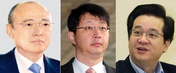사진 왼쪽부터) 김승연 한화그룹 회장, 최재원 SK그룹 부회장, 이재현 CJ그룹 회장.