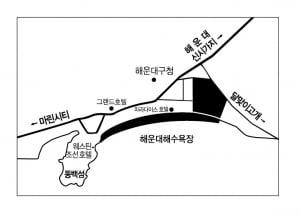 [엘시티 더 레지던스②입지] 해운대해수욕장 백사장 앞 귀한 '비치 프론트'