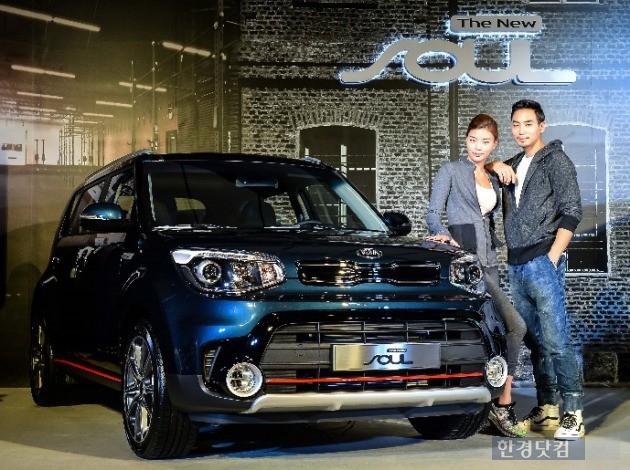 기아자동차는 22일 강남구 청담동에 위치한 송은 아트스페이스에서 '더뉴 쏘울' 사진발표회를 열었다. 가격은 1750만~2315만원이다. (사진=기아차 제공)