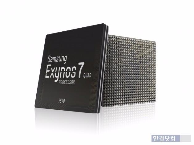 삼성전자가 양산을 시작한 14나노 공정 기반의 저가형 모바일 애플리케이션프로세서(AP) '엑시노스 7570'. / 사진=삼성전자 제공