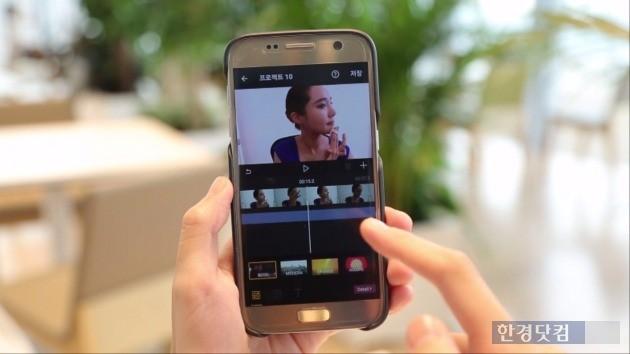 두비두를 이용해 동영상을 편집하는 모습. / 사진=KT 제공