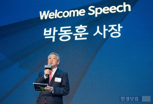 QM6 출시 행사에서 박동훈 사장이 신차를 소개하고 있다. (사진=르노삼성)