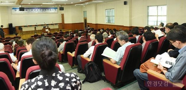 23일 한신대에서 열린 '한일경제경영 국제학술대회' 개회식. / 최혁 기자