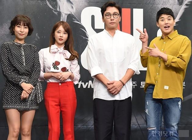 'SNL 8' 제작발표회 이세영-이수민-탁재훈-권혁수 / 사진 = 변성현 기자