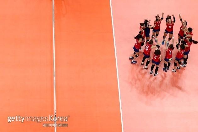 여자 배구대표팀 ⓒ gettyimages/이매진스